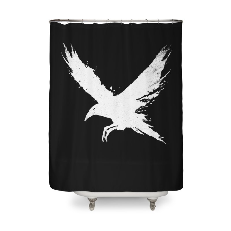 The Raven [ .BLACK. ] Home Shower Curtain by expo's Artist Shop