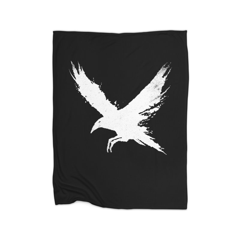 The Raven [ .BLACK. ] Home Blanket by expo's Artist Shop