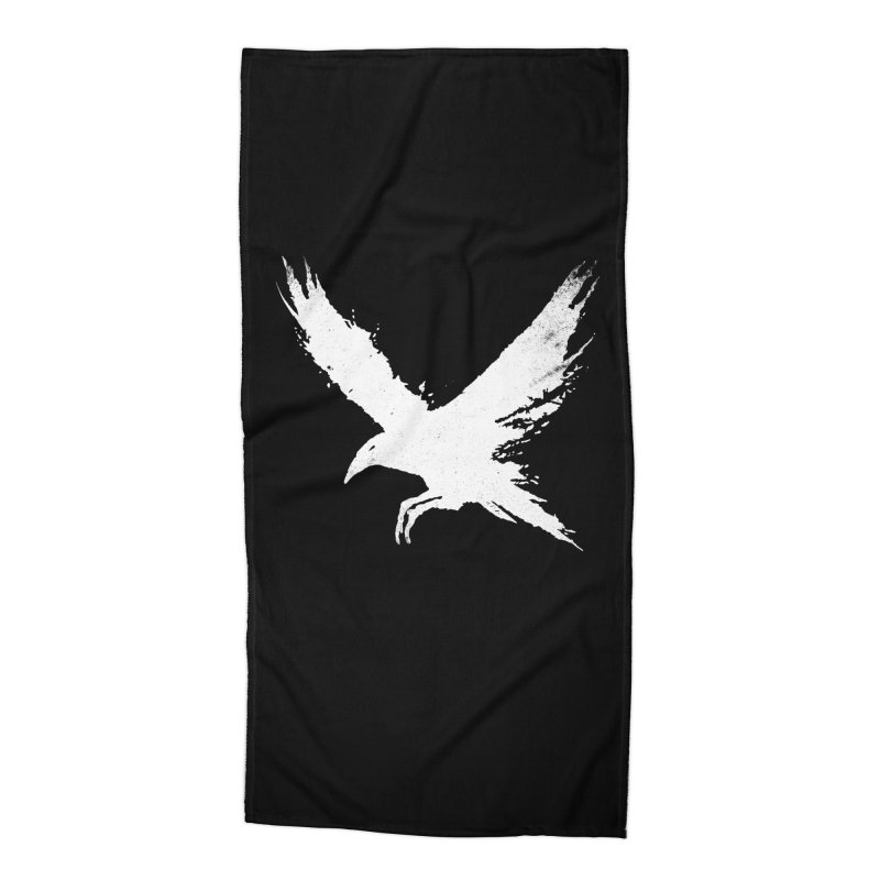 The Raven [ .BLACK. ] Accessories Beach Towel by expo's Artist Shop