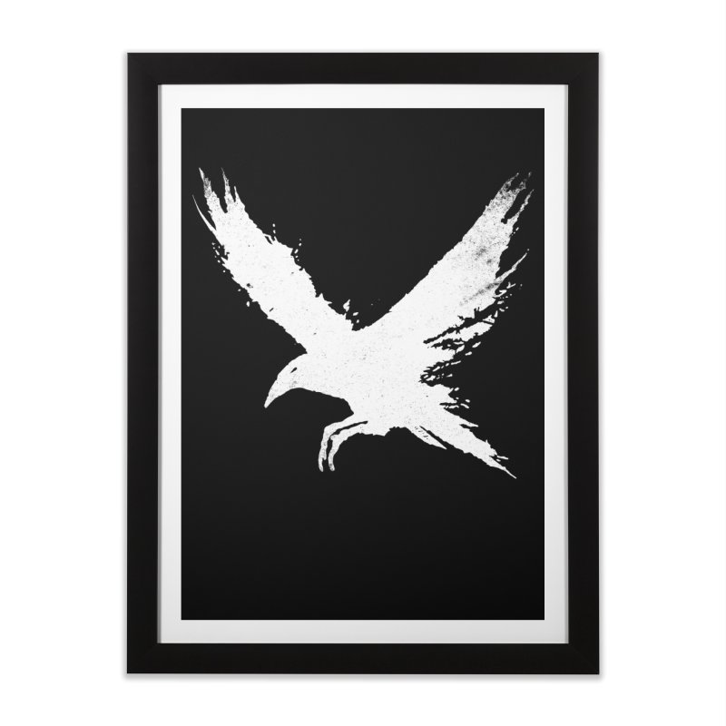 The Raven [ .BLACK. ] Home Framed Fine Art Print by expo's Artist Shop