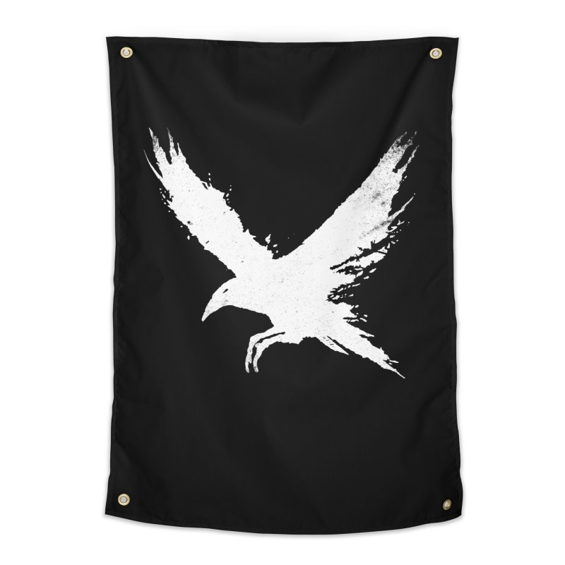 The Raven [ .BLACK. ] Home Tapestry by expo's Artist Shop