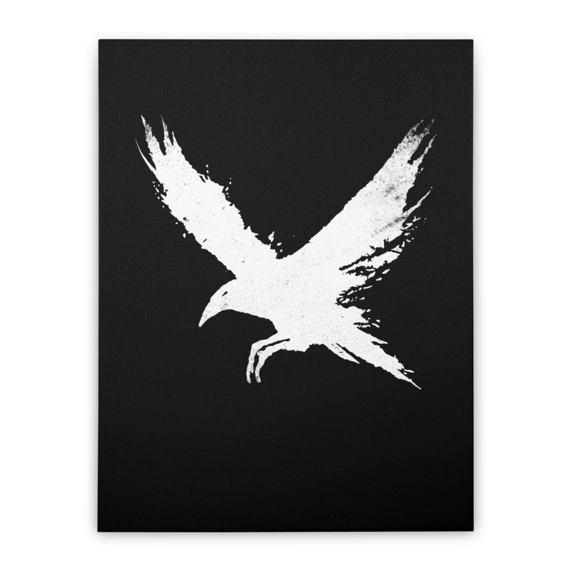 The Raven [ .BLACK. ] Home Stretched Canvas by expo's Artist Shop