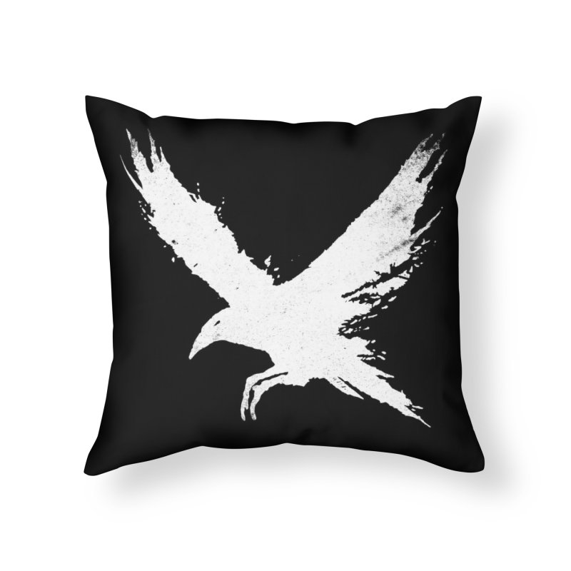 The Raven [ .BLACK. ] Home Throw Pillow by expo's Artist Shop