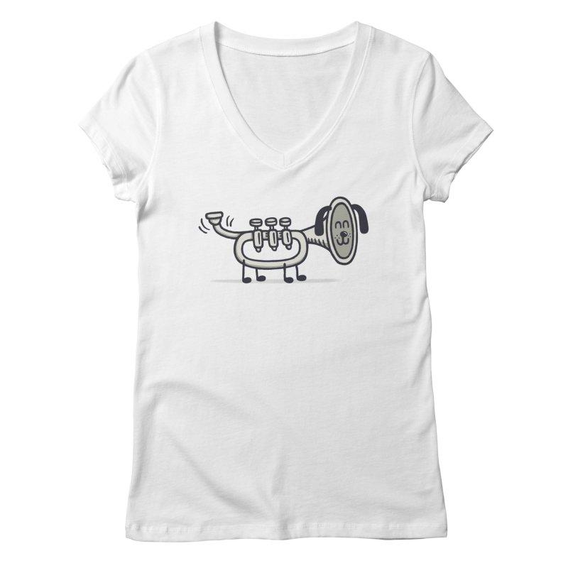 Trum Pet Women's V-Neck by expo's Artist Shop