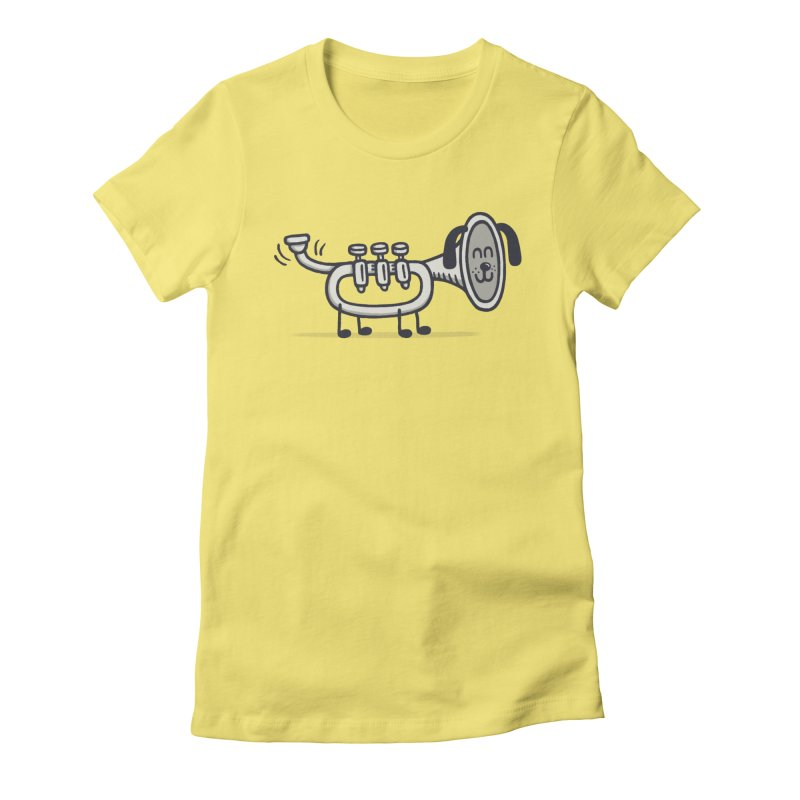 Trum Pet Women's Fitted T-Shirt by expo's Artist Shop
