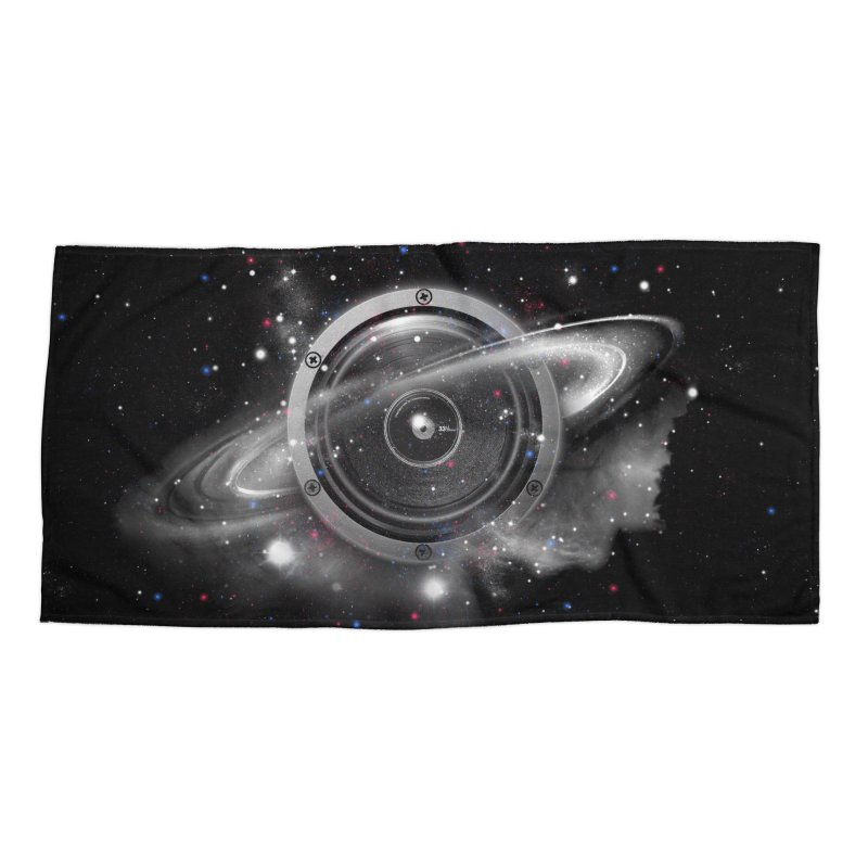 Planet Music Accessories Beach Towel by expo's Artist Shop