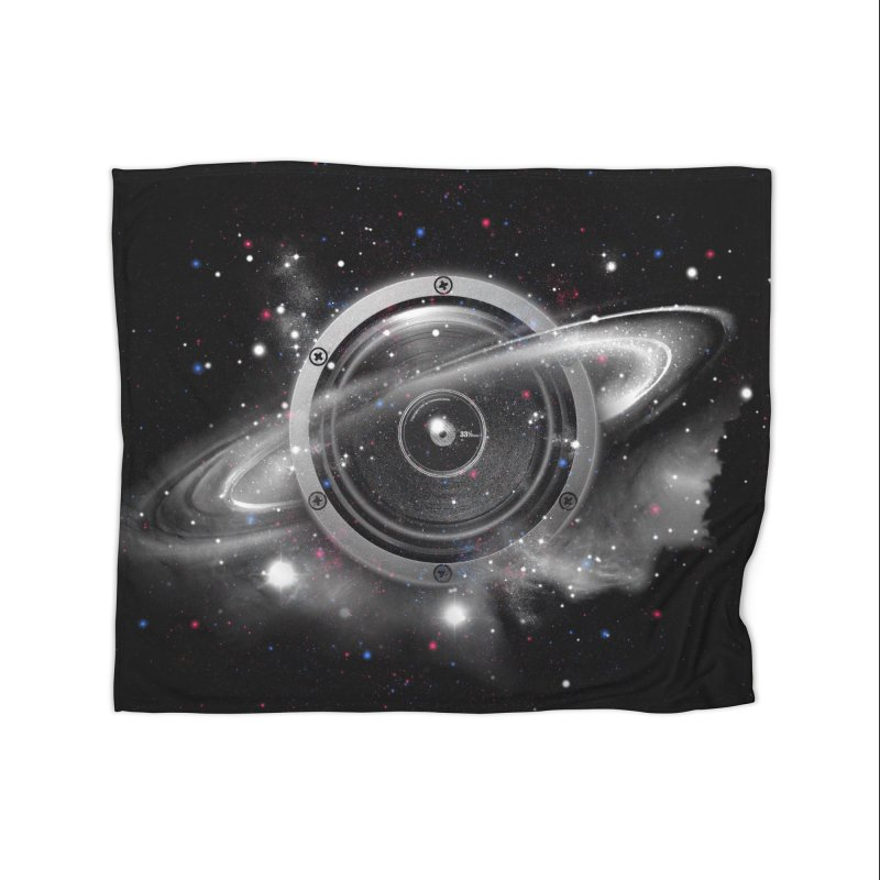 Planet Music Home Fleece Blanket by expo's Artist Shop