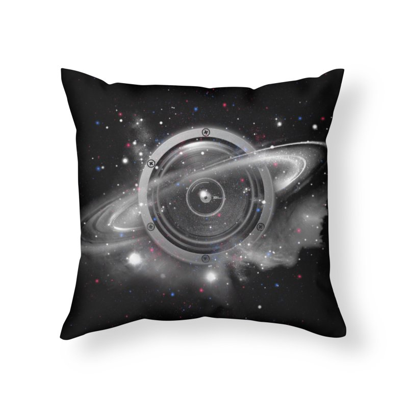 Planet Music Home Throw Pillow by expo's Artist Shop