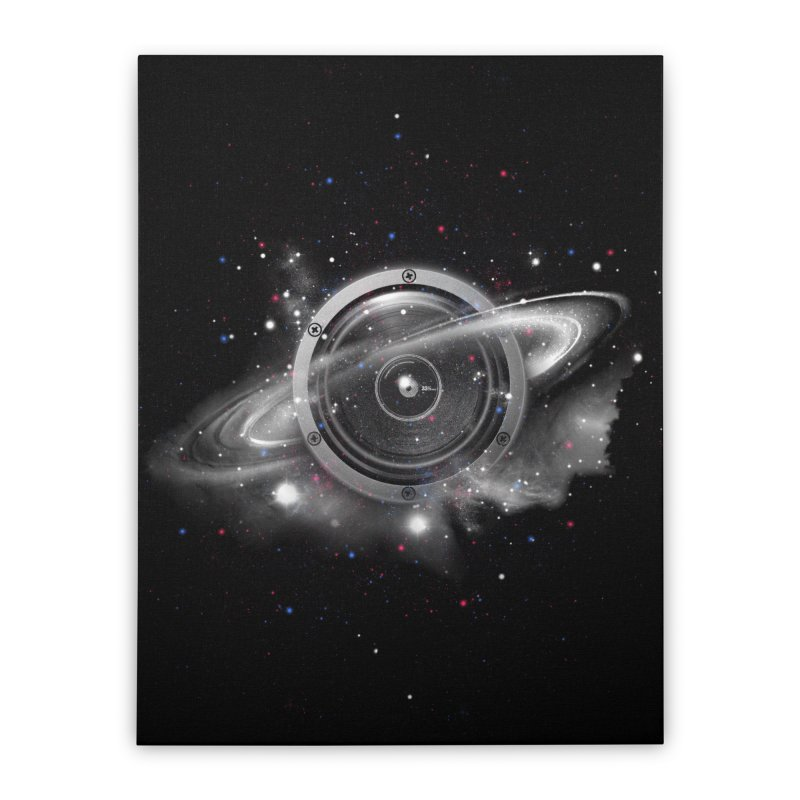 Planet Music Home Stretched Canvas by expo's Artist Shop