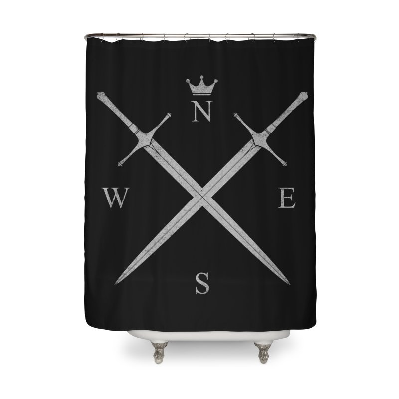 King In The North Home Shower Curtain by expo's Artist Shop
