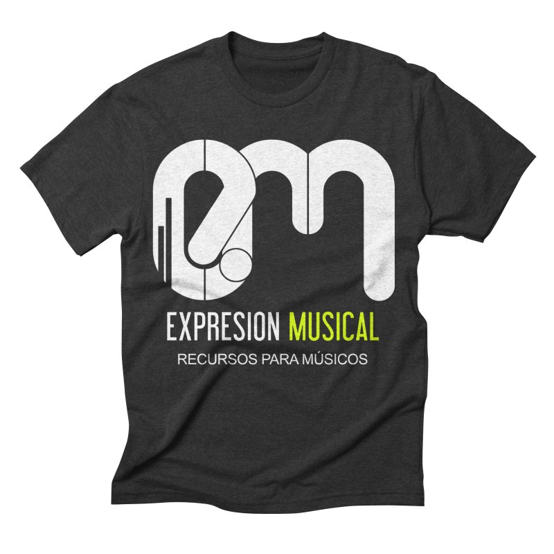 Playera EM  Men's Triblend T-shirt by Expresión Musical