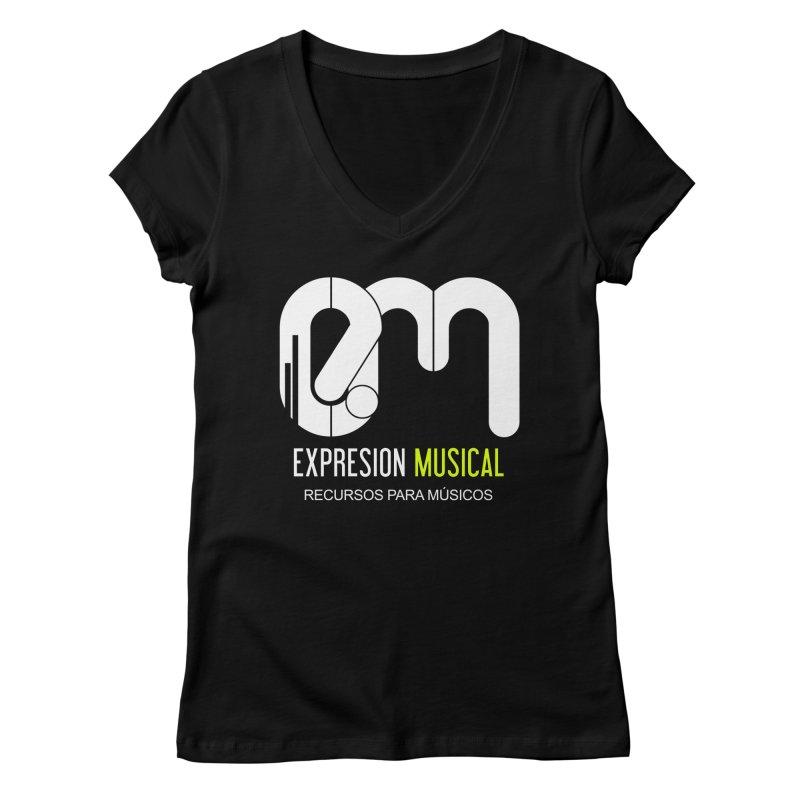 Playera EM  Women's V-Neck by Expresión Musical