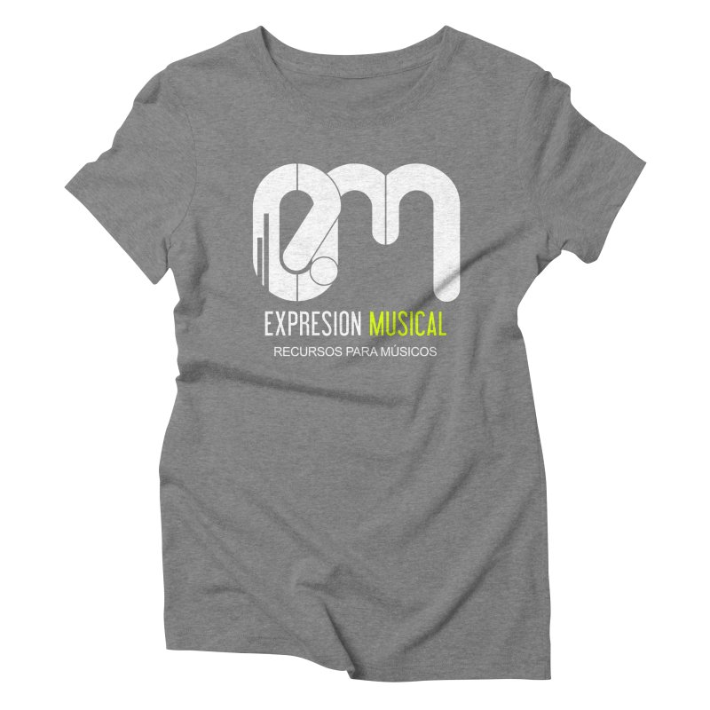 Playera EM  Women's Triblend T-shirt by Expresión Musical