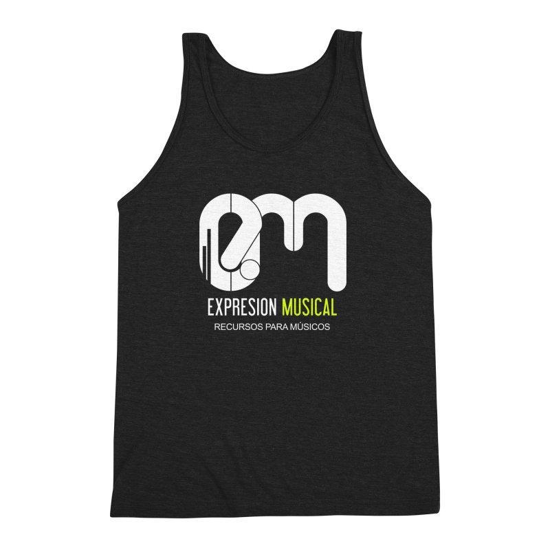 Playera EM  Men's Triblend Tank by Expresión Musical