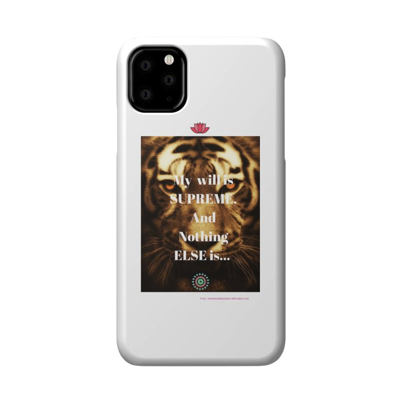 Motivational quote on will power Accessories Phone Case by extraordinaryLifeProject's Artist Shop
