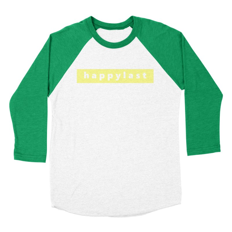 happylast     logo Women's Baseball Triblend Longsleeve T-Shirt by Extreme Toast's Artist Shop