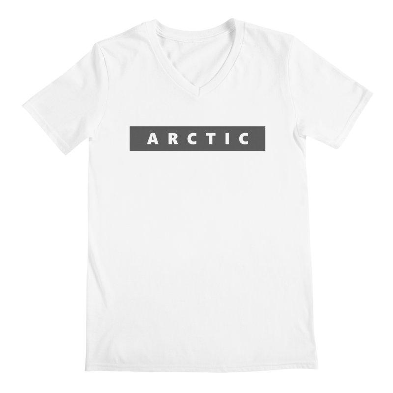 ARCTIC  |  logo  |  dark Men's V-Neck by Extreme Toast's Artist Shop