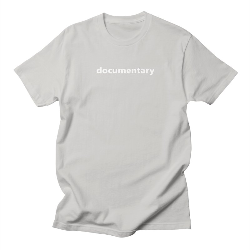 documentary     text     white Men's Regular T-Shirt by Extreme Toast's Artist Shop
