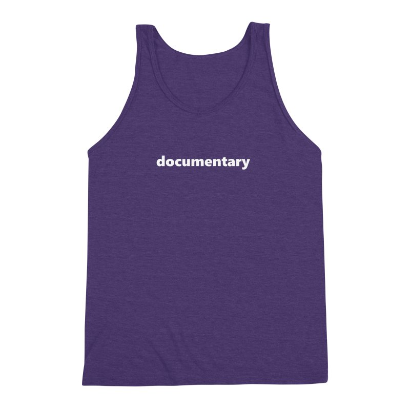 documentary  |  text  |  white Men's Triblend Tank by
