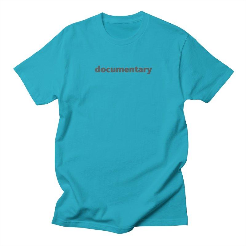 documentary  |  text  |  dark Men's Regular T-Shirt by Extreme Toast's Artist Shop