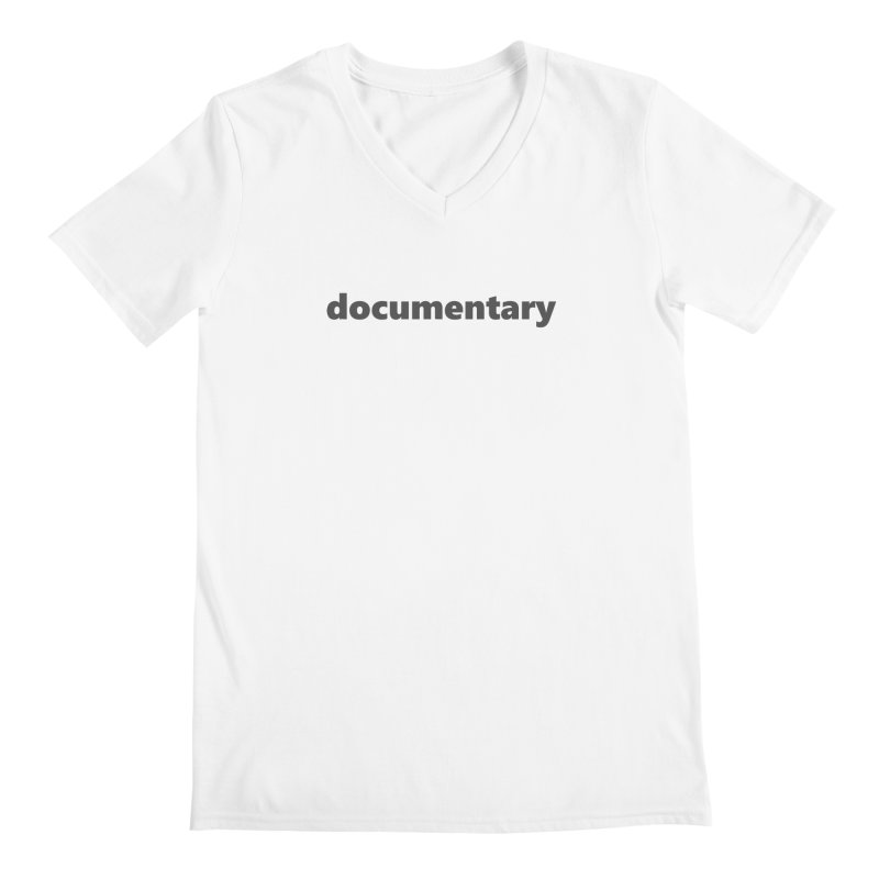 documentary  |  text  |  dark Men's Regular V-Neck by Extreme Toast's Artist Shop