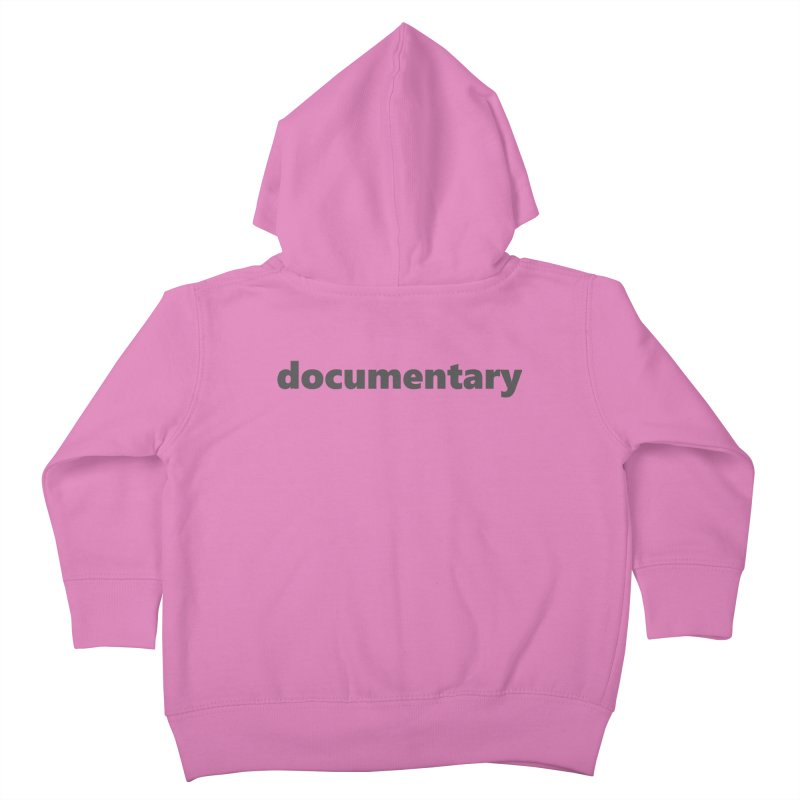 documentary  |  text  |  dark Kids Toddler Zip-Up Hoody by