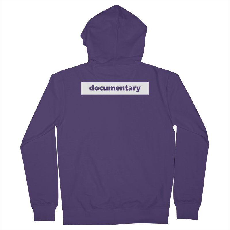 documentary  |  logo  |  white Women's French Terry Zip-Up Hoody by