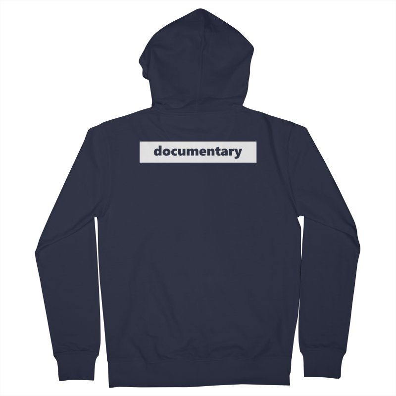 documentary  |  logo  |  white Women's French Terry Zip-Up Hoody by Extreme Toast's Artist Shop