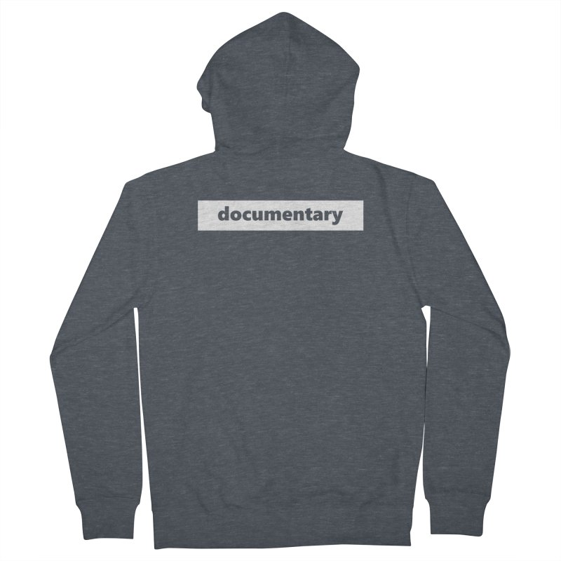 documentary  |  logo  |  white Men's French Terry Zip-Up Hoody by
