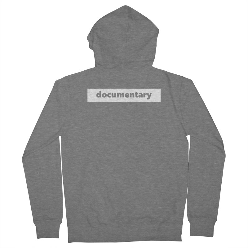 documentary  |  logo  |  white Men's French Terry Zip-Up Hoody by Extreme Toast's Artist Shop