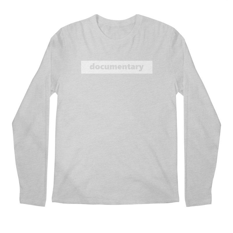documentary  |  logo  |  white Men's Regular Longsleeve T-Shirt by Extreme Toast's Artist Shop