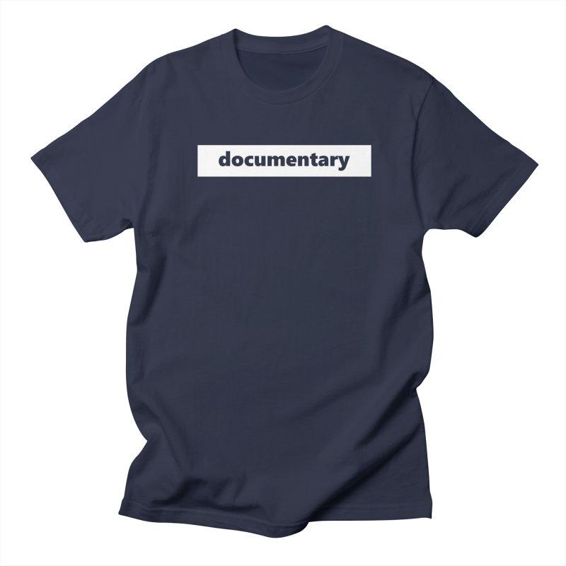 documentary  |  logo  |  white Men's Regular T-Shirt by Extreme Toast's Artist Shop
