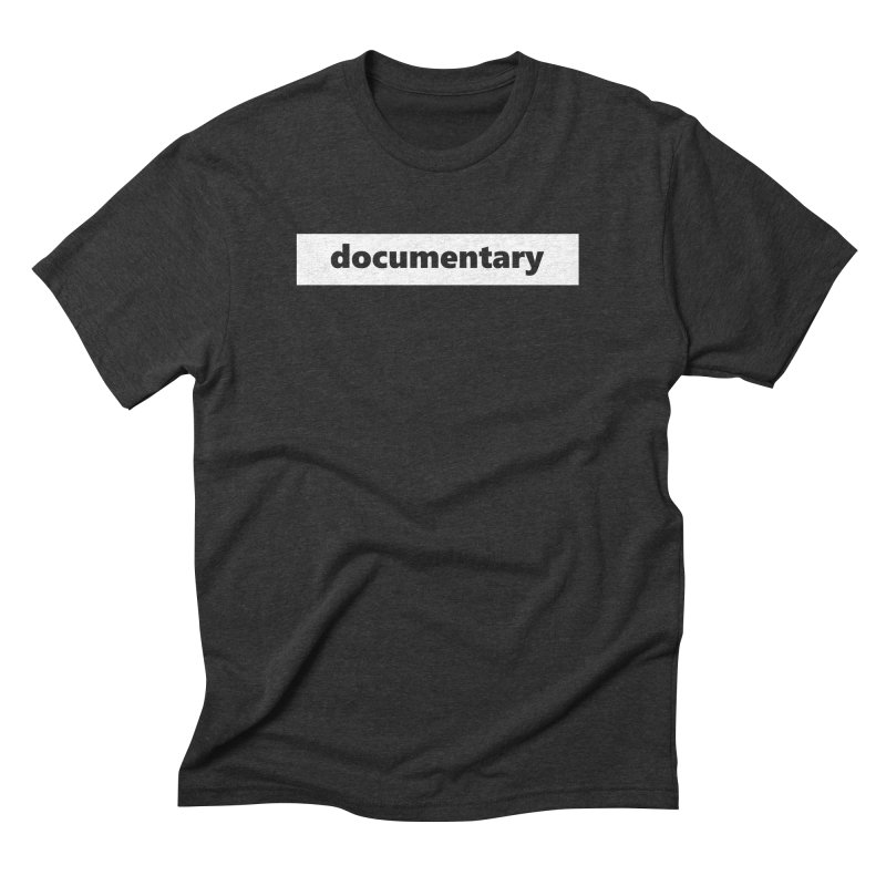 documentary  |  logo  |  white Men's Triblend T-Shirt by