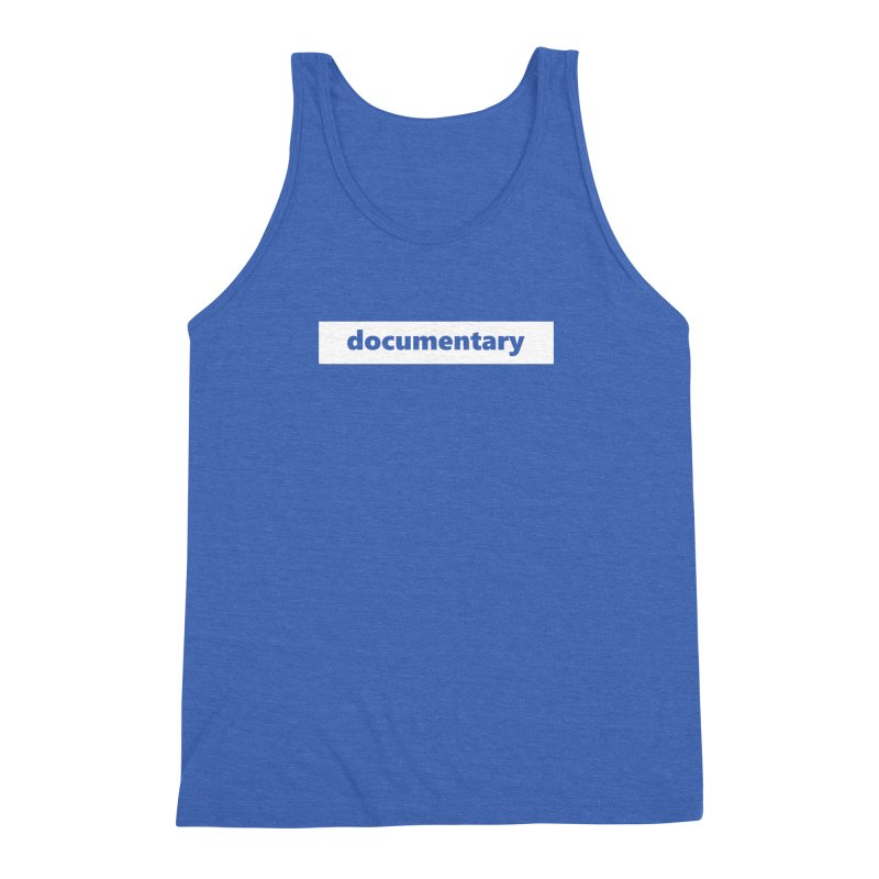 documentary  |  logo  |  white Men's Triblend Tank by