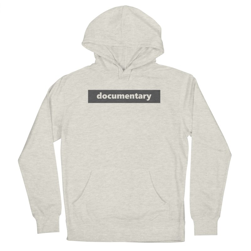 documentary  |  logo  |  dark Men's French Terry Pullover Hoody by