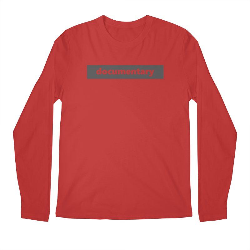 documentary  |  logo  |  dark Men's Regular Longsleeve T-Shirt by Extreme Toast's Artist Shop