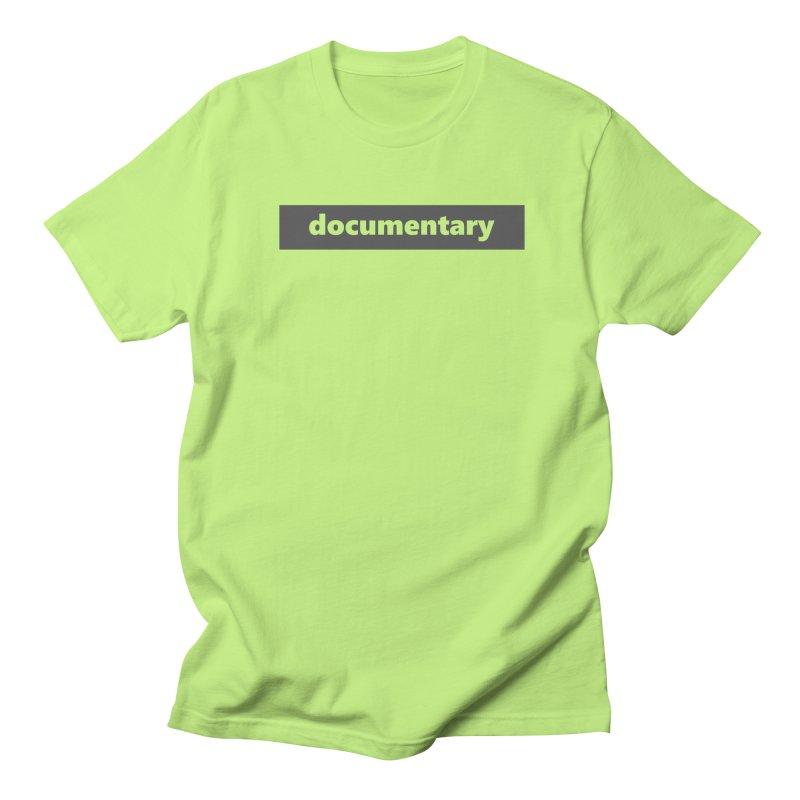 documentary  |  logo  |  dark Men's Regular T-Shirt by Extreme Toast's Artist Shop