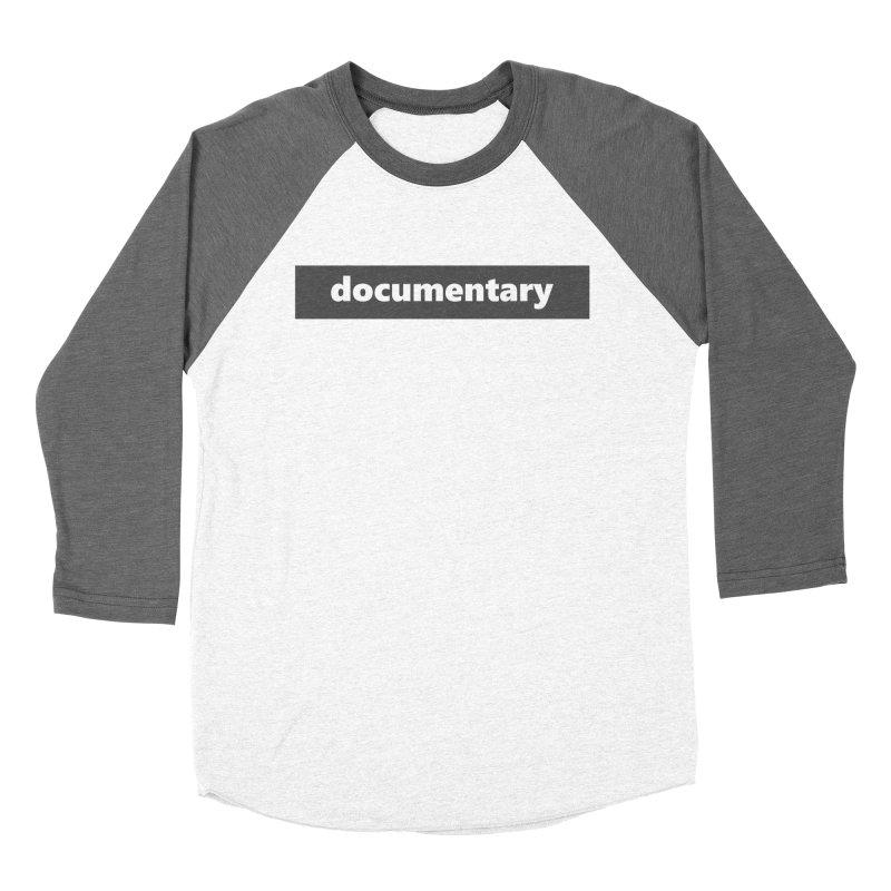 documentary  |  logo  |  dark Men's Baseball Triblend Longsleeve T-Shirt by