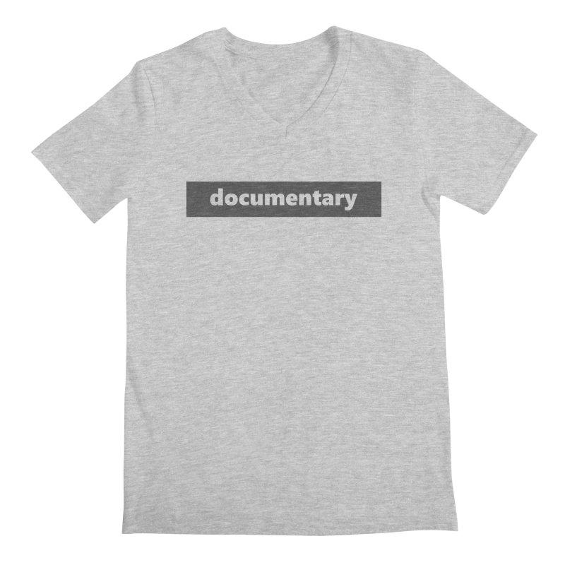 documentary  |  logo  |  dark Men's Regular V-Neck by