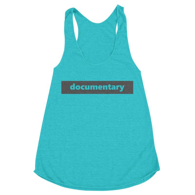 documentary  |  logo  |  dark Women's Racerback Triblend Tank by Extreme Toast's Artist Shop