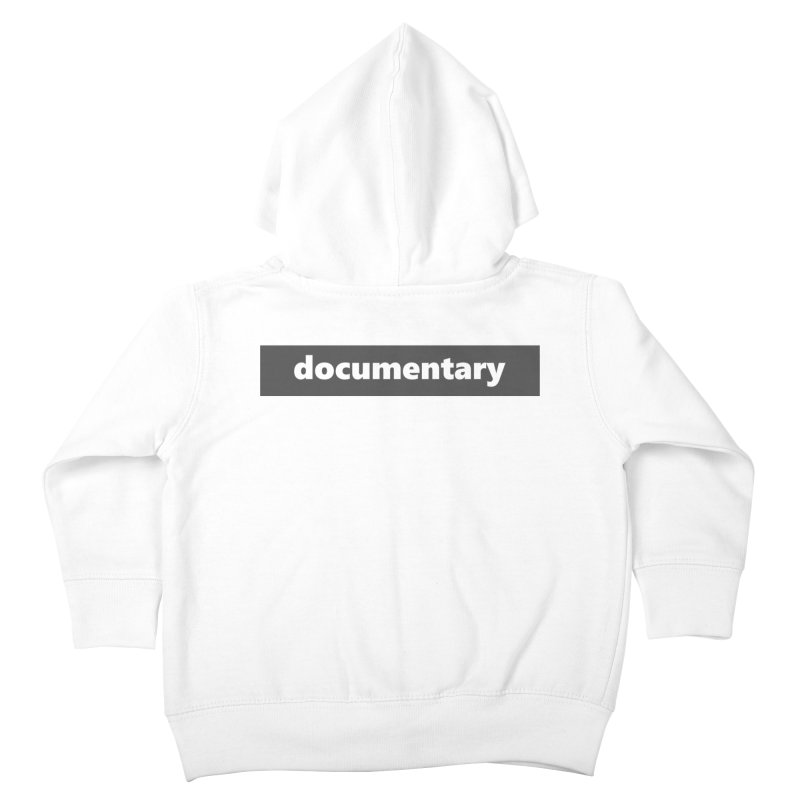 documentary  |  logo  |  dark Kids Toddler Zip-Up Hoody by