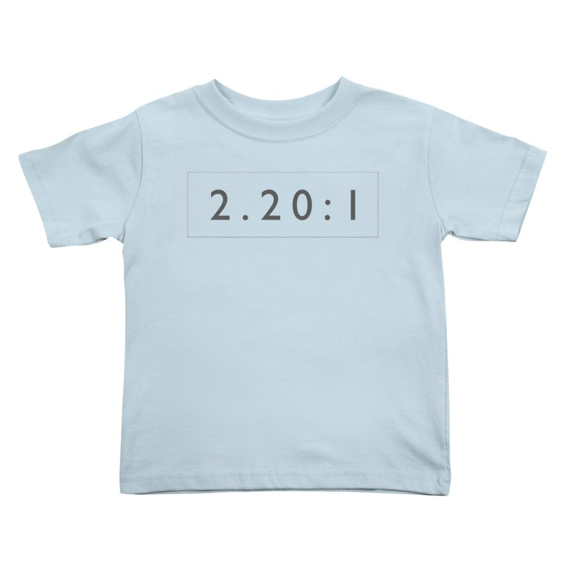 2.20:1  |  logo Kids Toddler T-Shirt by Extreme Toast's Artist Shop