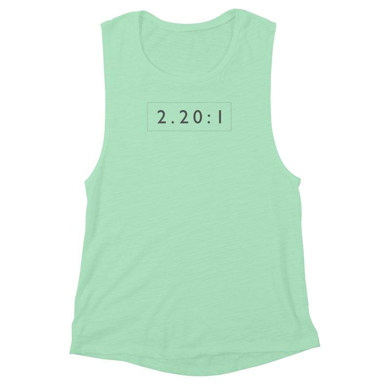 2.20:1     logo Women's Muscle Tank by