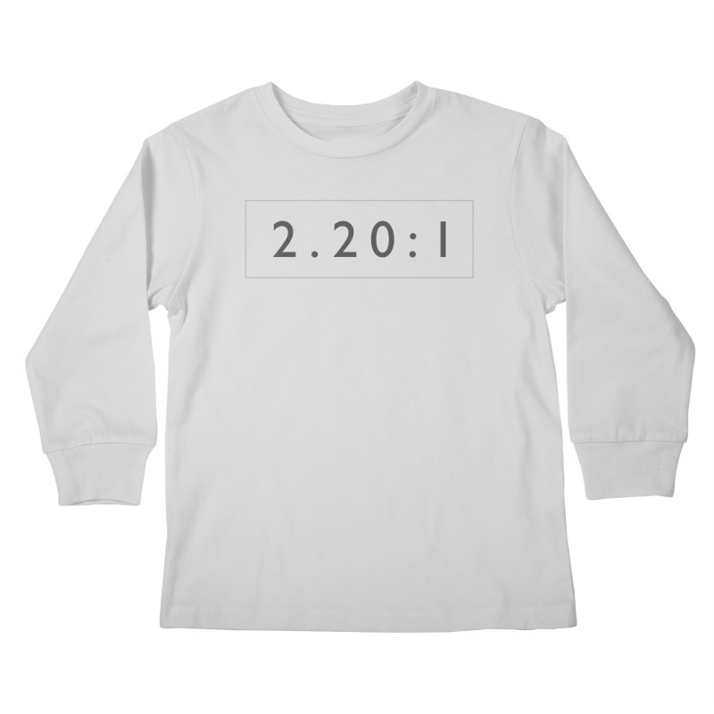 2.20:1  |  logo Kids Longsleeve T-Shirt by Extreme Toast's Artist Shop
