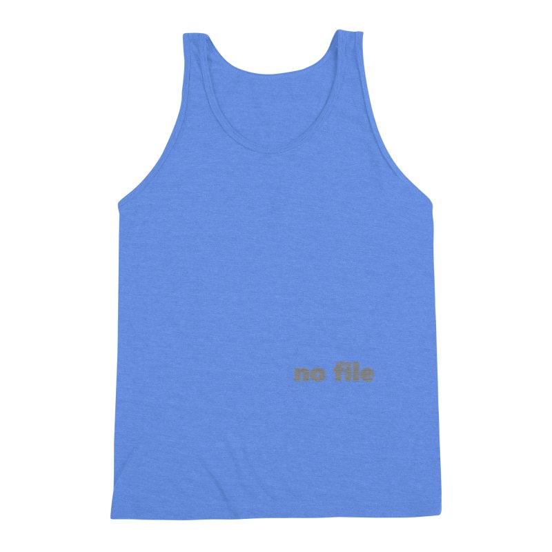 no file  |  text Men's Triblend Tank by Extreme Toast's Artist Shop