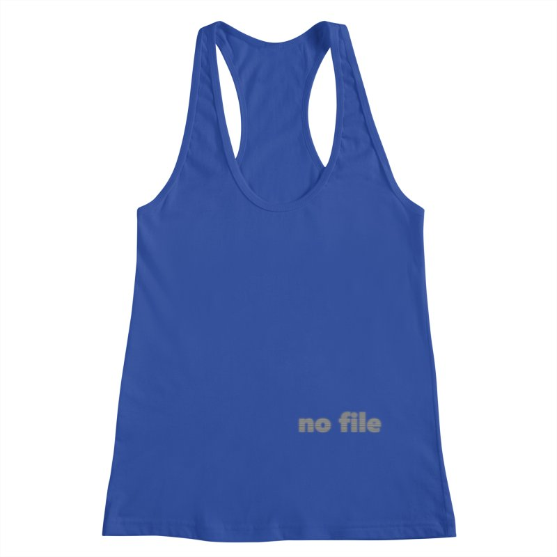 no file  |  text Women's Racerback Tank by Extreme Toast's Artist Shop