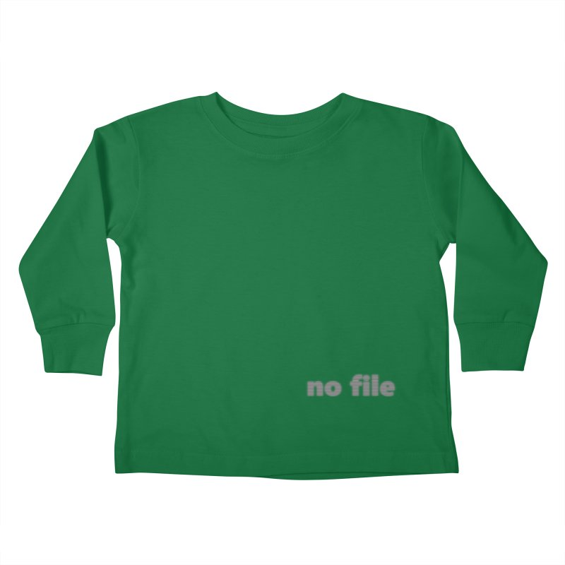 no file  |  text Kids Toddler Longsleeve T-Shirt by Extreme Toast's Artist Shop