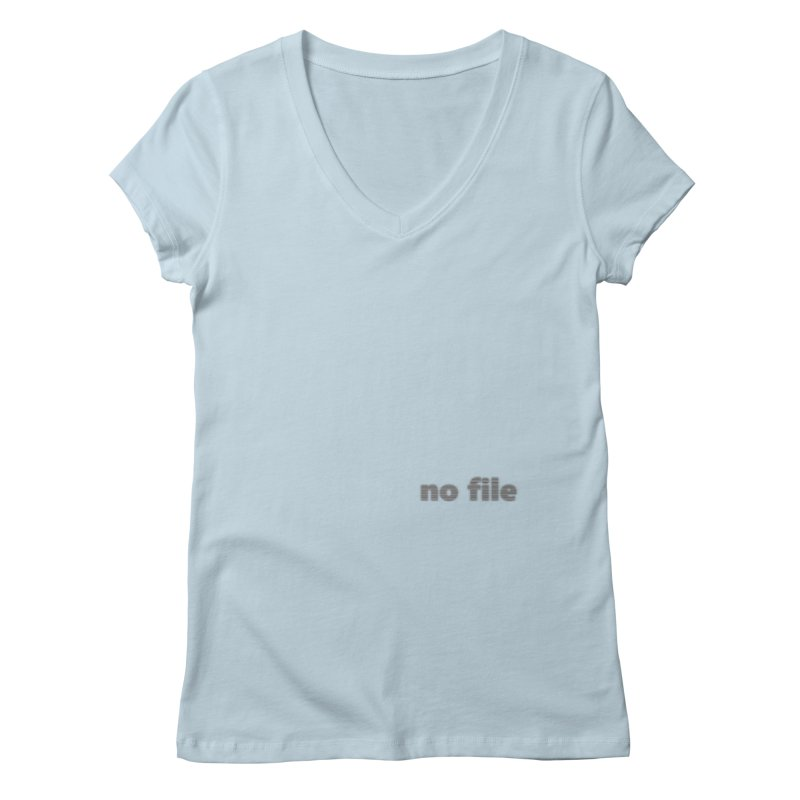 no file  |  text Women's Regular V-Neck by
