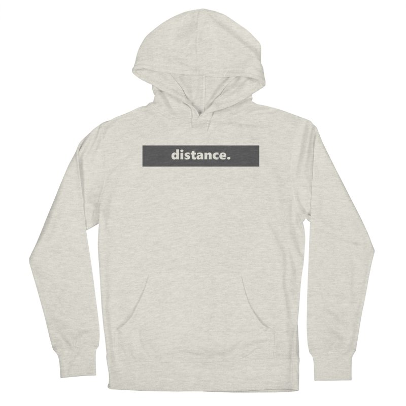 distance.  |  logo  |  dark Women's French Terry Pullover Hoody by