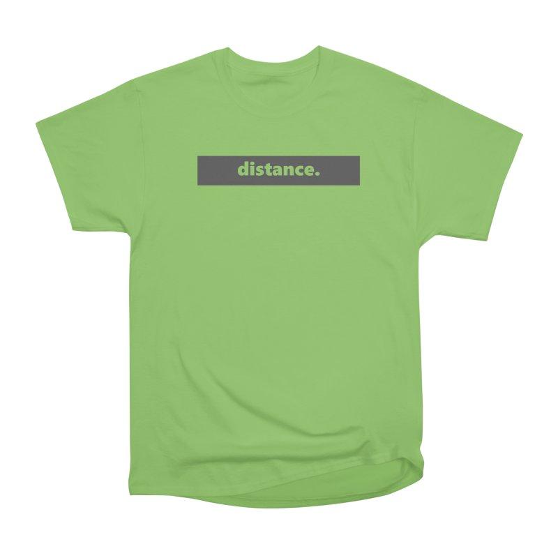 distance.  |  logo  |  dark Women's Heavyweight Unisex T-Shirt by